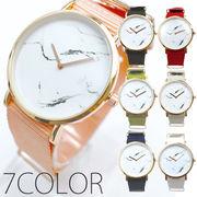 大理石風の高級感溢れるデザインの文字盤  NATO風ベルト SPST027 レディース腕時計