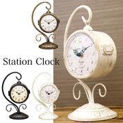 【置き両面時計】ステーションクロック ボスサイドハンギング♪