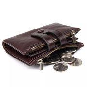 本革財布 牛革2つ折り財布 お父さん 折り財布 小銭入れ カード収納