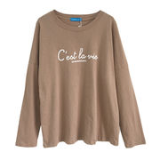 ファッション レターズ プリント ボトムシャツ 女 春 新しいデザイン 韓国風 ルース