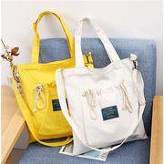 バッグ エコバッグ ひもつき ズックバッグ 学生 純色 トートバッグ 韓国 ショルダーバッグ
