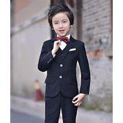【高品質 NEW!!】韓国風子供服/キッズ子供スーツ/男の子/フォーマルセット入園式/卒業式/演出服/結婚式