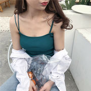 新しいデザイン ファッション 女性服 韓国風 シンプル 何でも似合う 肩 帯 ニッティン