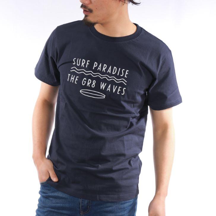 【2019春夏新作】 半袖Tシャツ メンズ クルーネック プリント サーフプリント ロゴプリント 春 夏