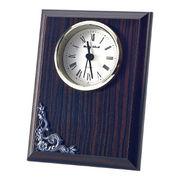 (クロック/ウォッチ)(記念時計/オリジナル)黒檀調記念時計 ビッグI KT-450