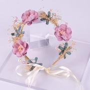 写真撮影 お花の冠 ヘッドドレス ハロウィン 髪飾り