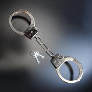 おもちゃ手錠 チェーン 鍵付き 刻印有