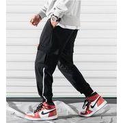 春夏新作メンズパンツ ズボン大きいサイズ ゆったり♪ブラック/グレー2色