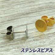 【ピアス】【ステンレス 316L】 ポストピアス(平型) /アクセサリー/ハンドメイド素材/