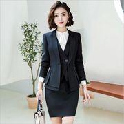 ★S~5L★大きいサイズ OL 通勤 通学 面接  ビジネス 洗練感 上品感 レディーススーツ