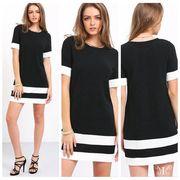 メール便661852】大きいサイズ ☆ ロングスリット シンプル Tシャツ ワンピース instagram 人気 LL~4L