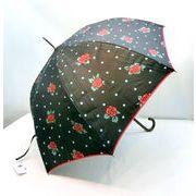 【晴雨兼用】【長傘】UVカット率99%!ポルカローズ柄大寸晴雨兼用ジャンプ傘