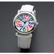 正規品AMORE DOLCE腕時計アモーレドルチェ AD18303-SSWHCL/WH ラウンド 革バンド レディース腕時計