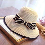 ★2019春夏新作★クロッシェ 草編み帽子 シンプル 日除け 日焼け止め リボン ファッション
