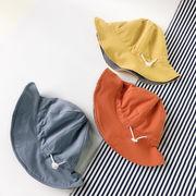 格安!春夏キッズ帽子◆キャップ◆紫外線対策◆日焼け止め◆UVカット◆バケットハット◆両面着可2-5歳