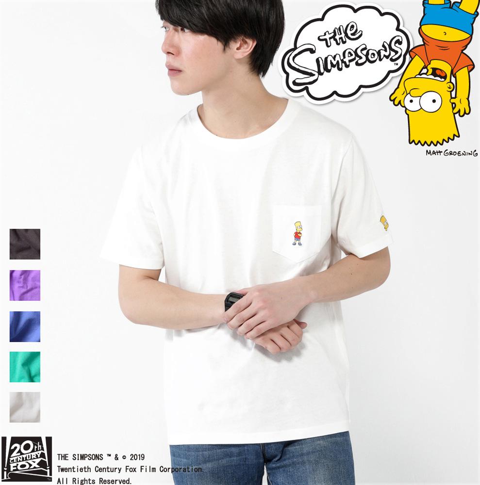 【19SS新作】【シンプソンズ】BARTワンポイント刺繍Tシャツ
