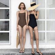 韓国ファッション通販業界1位★レディース  体型カバー   レトロ セクシー 夏  ワンピース水着  ビキニ