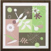 モダンキャンバスアート「Leaves  arrangement (グリーン)」