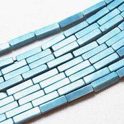 パーツ 素材 連 アゲート スクエア チューブ 2×8mm ライトブルー  品番: 11144