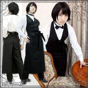 1160D★ML■送料無料■ MENCAFE制服 色:黒 サイズ:男性用のS/M/L