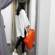 【即納】ロング丈トップス 体型カバー スリット lhd-2018-50 【メール便可】新作
