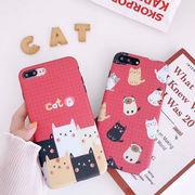 スマホケース  猫 カワイイ iPhoneカバー オシャレ (iPhonex/xs/xr/7/8plus/6s/6P)