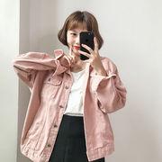 ジャケット 女 春 新しいデザイン 韓国風 アンティーク調 原宿 風 ルース 単一色 デ