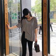 春夏新商品730693  大きいサイズ 韓国 レディース ファッション Tシャツ ワンピース  LL-4L