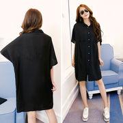 春夏新商品730703 大きいサイズ ドレス 婦人服 日韓風 シャツ ワンピースLL 3L 4L