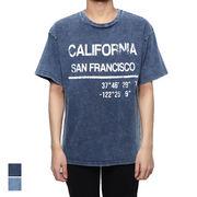 カットデニムケミカルBIGプリントTシャツ/sb-295753