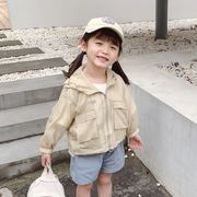 【韓国ファッション】  日焼け防止服 子供服 キッズ 児童 夏 長袖 韓国 ファッション
