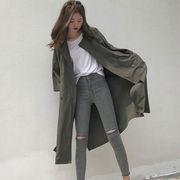 春 女性服 新しいデザイン ルース 何でも似合う ひもあり 七分袖 アウターウェア 韓国