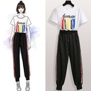 【大きいサイズXL-5XL】ファッショントップス♪ブラック/ホワイト2色展開◆