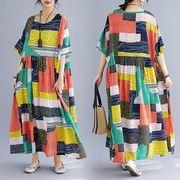 【春夏新作】ファッションワンピース♪ローズピンク/オレンジ2色展開◆