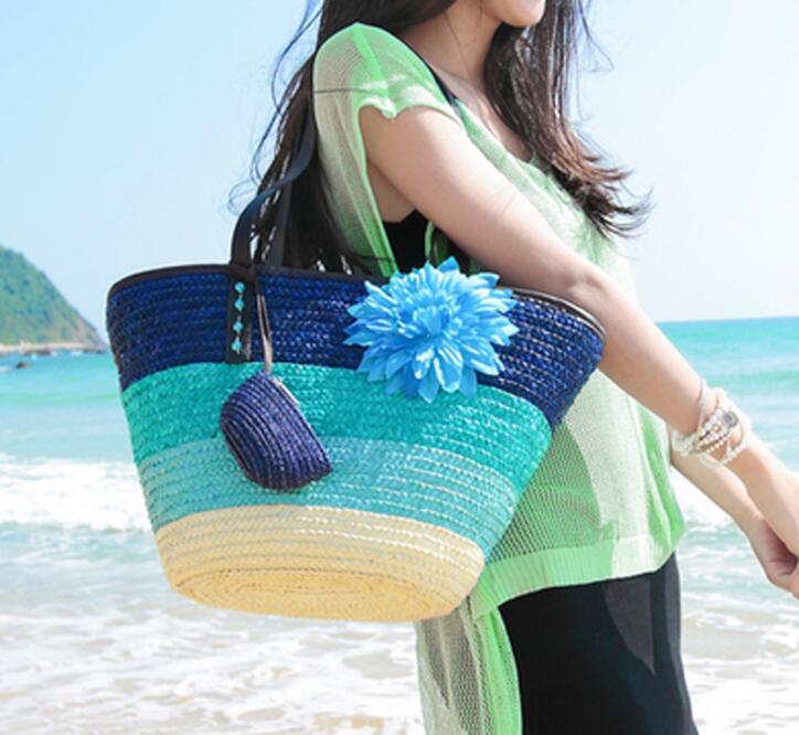 大容量 かごバッグ 大きめ 草編みバッグ ストローバッグ