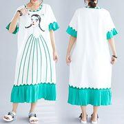 【春夏新作】ファッションワンピース♪イエロー/グリーン2色展開◆