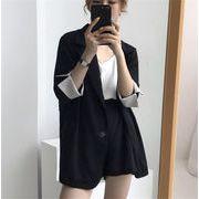 大人の魅力 上品 女性らしい/新品/ストライプ/スーツ/コート/ショートパンツ/2点セット/セット
