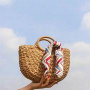 限定発売 高品質で 韓国ファッション ハンドバッグ 織りバッグ 籐 ビーチバッグ 夏 斜めクロス小バッグ