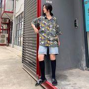 春夏新商730781  大きいサイズ 韓国 レディース ファッション ポロシャツ ワンピース  LL-4L