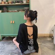 春夏新商730777  大きいサイズ 韓国 レディース ファッション Tシャツ ワンピース  LL-4L