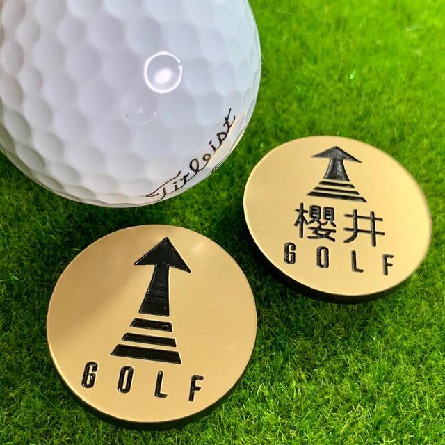 【文字入れ彫刻】オリジナル ゴルフマーカー (ゴールドVer.) golf-marker-02
