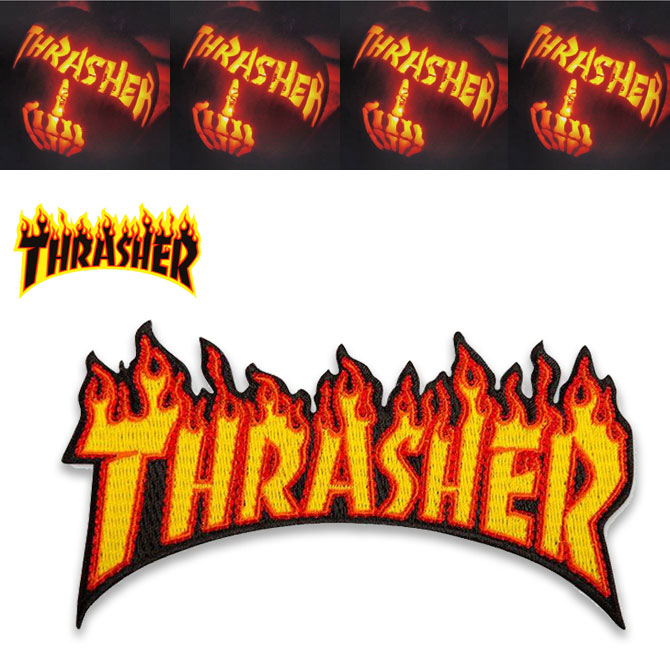 THRASHER FLAME PATCHES  17727