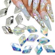 ひし型 ストーン 10粒 ランバス パーツ ストーン ガラス クリスタル ネイル
