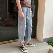 NEWタイプ登場涼しい夏の準備韓国ファッション/トレンド/CHIC気質/個性/破れ/カジュアル/ジーンズ