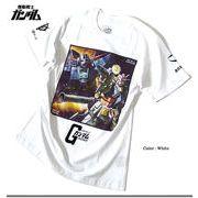 ★注目度抜群★初代「機動戦士ガンダム」よりガンダムとジオングの戦いを描いたフルカラープリントTシャツ