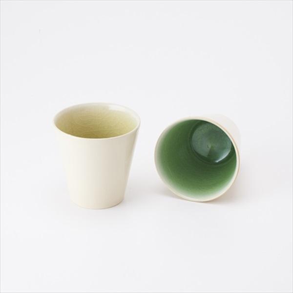 タイムレスカラーカップペア ライトグリーン×グリーン