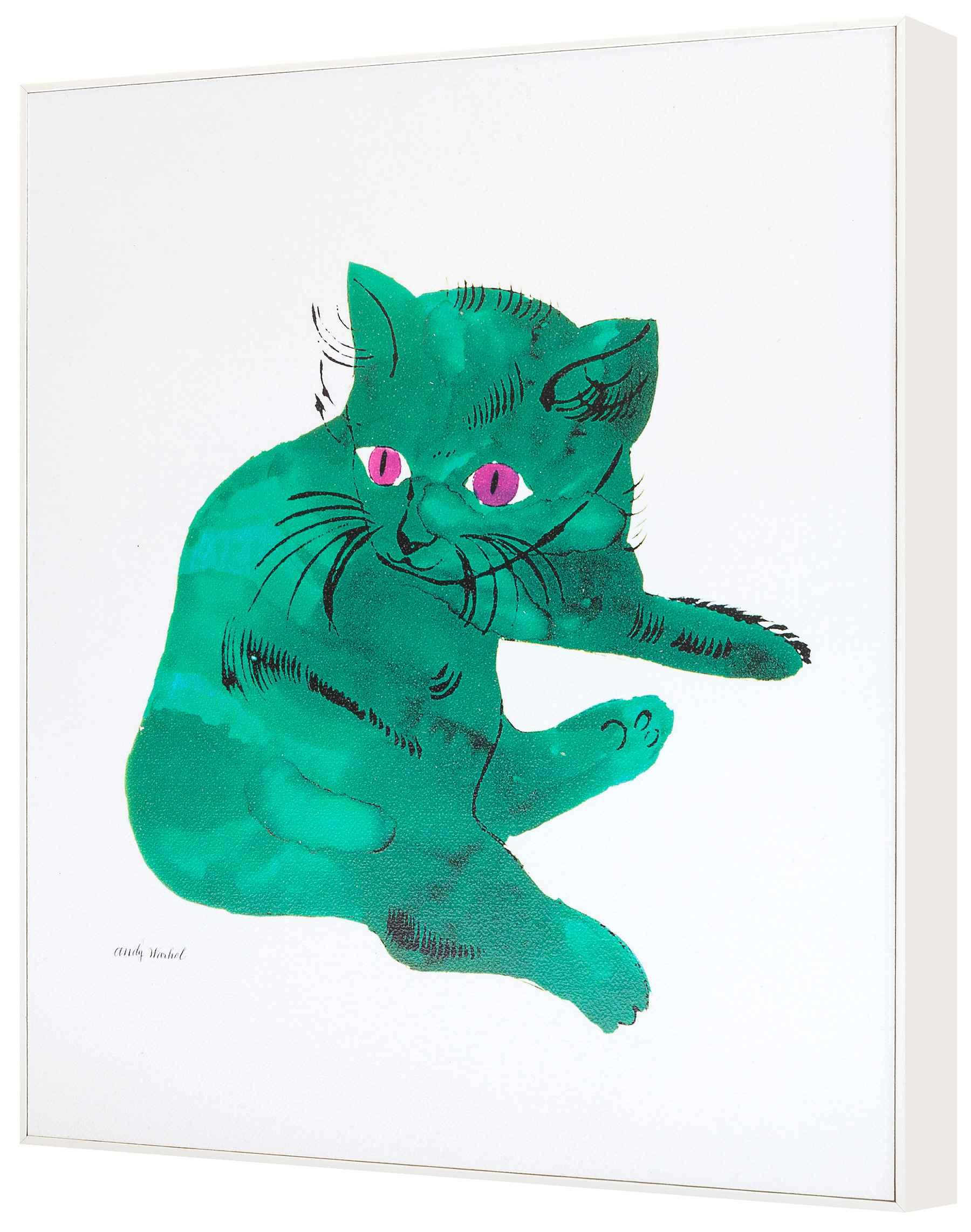 ラーソンジュール ウォールアート アンディ・ウォーホル Green Cat