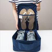 シューズポーチ 靴入れ 防水加工 メッシュポーチ シューズバッグ トラベルポーチ 仕切り 撥水