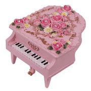 【 ミニピアノ型オルゴール (ピンク) 】  ♪ありがとう