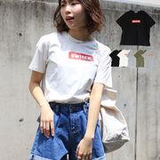 T/S SWITCHボックスロゴTシャツ トップス 半袖 ロゴT カジュアル 夏コーデ